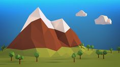 Low Poly Landscapes Low Poly Wallpaper 1920×1080