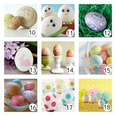 18 WAYS TO DECORATE EASTER EGGS-How to Decorate Easter Eggs u-createcrafts.com...You'll find ideas for wooden, plastic, and real Easter eggs for this upcoming holiday…