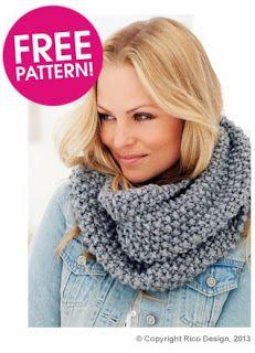 DIY Moss Stitch Snood - FREE Knitting Pattern
