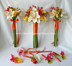 sharon nagassar designs silk, latex, real touch, custom wedding flowers - Tropical Destination Wedding Flower Collection