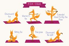 Fox Yoga by Type and Graphics Lab on @creativemarket