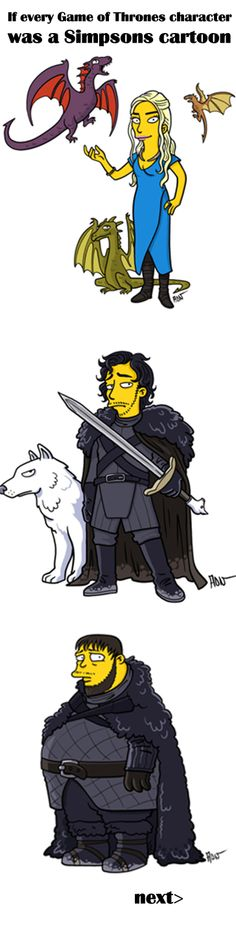 If every Game of Thrones character was a Simpsons cartoon