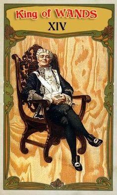 King of Wands - Vaudeville Tarot
