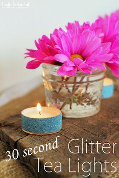 30 Second Glitter Tea Lights