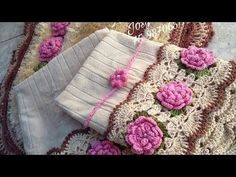 YouTube Crochet Designs, Crochet Patterns, Crochet Videos, Household Items, Diy And Crafts, Bows, Knitting, Lace, Inspiration