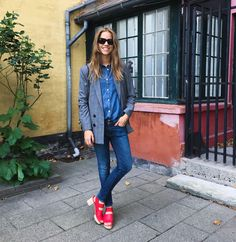 Denim and Red - TRINE'S WARDROBE