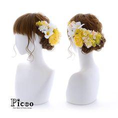 Gallery 370 . Order Made Works Original Hair Accessory for WEDDING . ⭐️結婚式髪飾り⭐️ . カラードレスのお色にあわせて、イエロー&ホワイトのお花をサイドにまとめて、気品よく仕上げました✨ かすみ草のふんわり効果と、ほどよくバランスの良いボリューム感が素敵すぎ . #Picco #オーダーメイド #髪飾り . . #イエロー #ホワイト #エレガント #結婚式 #ウェディングヘア . デザイナー @mkmk1109 . . . #ブライダル #ウェディング #ウェディングドレス #カラードレス #ヘアアクセ #ヘッドアクセ #ヘッドドレス #花飾り #造花 #結婚式髪飾り #結婚式髪型 #結婚式ヘア #前撮り #プレ花嫁 #花嫁 #二次会 #パーティー #お披露目 #披露宴 #wedding #marry
