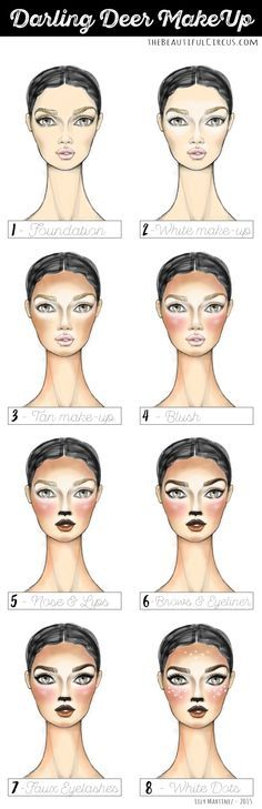 Deer FACES full step by step. by: Lily Martinez                                                                                                                                                                                 More