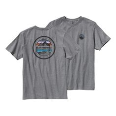 The Patagonia Rivet Logo Cotton/Poly T-Shirt encapsulates the mountains and oceans we hold dear in one enduring design. Check it out.