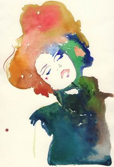 Etsy, silverridgestudio, illustration, art, fashion, print, watercolor, beautiful by define1lady, via Flickr