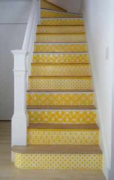 DIY STAIRS--Tons of different patterns and ideas.