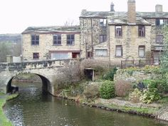 The wonderful collection of dwellings built over the canal tunnel at Mytholmroyd