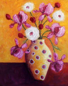 """Pink Irises"" | ORIGINAL"