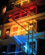 Chris Freeman - Colors Bars, Neon, Argon, Mercury, Haller Gallery, NYC