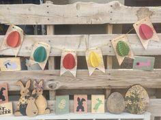 Vintage Easter Egg Banner by Cards4Charlie on Etsy