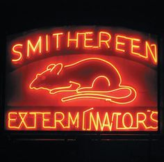 """I've always loved this sign. According to their web site, they invented the whole field of pest control, including the term """"insecticide."""" http://www.smithereen.com/site/epage/36958_596.htm"""