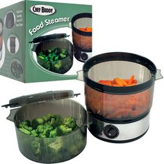 Trademark Commerce 82-HE506 Chef BuddyT Food Steamer includes Timer and two containers