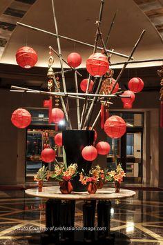 Chinese New Year design in the Mandarin Oriental Washington, DC I Nature of Design with Janet Flowers I Photo: ProfessionalImage.com