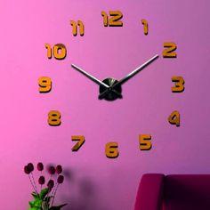 3D obraz nástenné hodiny  žlto tmavá RAL 1021