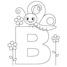 alphabet coloring pages letter b