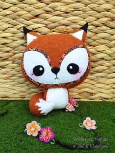 Fox plush toy  felt fox  cute kawaii fox  by WishsongCreations, $30.00