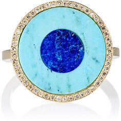 Jennifer Meyer Women's Evil Eye Ring ($3,350) ❤ liked on Polyvore featuring jewelry, rings, colorless, clear rings, circle ring, 18 karat gold jewelry, evil eye ring and cut out ring