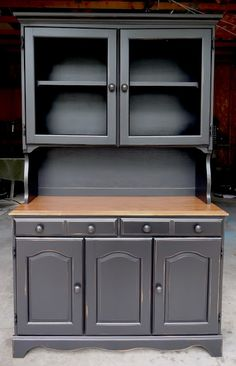 Or a gray to bring out the stained glass? @Rhonda Alp Anderson {createinspire}: Hutch Redo