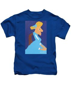 Patrick Francis Designer Kids Royal Blue T-Shirt featuring the painting Portrait Of Adeline Ravoux 2014 - After Vincent Van Gogh by Patrick Francis