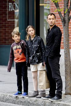 Jude Law and Family Shopping in NYC