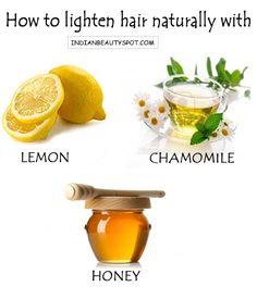 lighten naturally naturally with lemon , chamomile and honey - indianbeautyspot.com