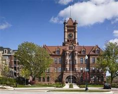 The old DuPage County Courthouse on Reber Street in Wheaton, Illinois