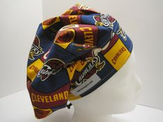 Cleveland Cavaliers Bouffant Scrub Hat surgical cap, surgical tech, OR nurse by sewingzen on Etsy