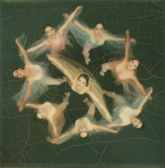 Dancers photographed from above with a Polaroid SX-70 camera, 1972. Read more: Beautiful Polaroids Made With Edwin Land's 'Magic' SX-70 in 1972 | LIFE.com