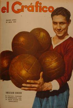 En el año de 1938, ARSENIO ERICO, del  Club Atlético Independiente de  Avellaneda, le anoto 5 goles al Club Atlético Vélez Sarsfield. tapa del diario (EL GRÁFICO)