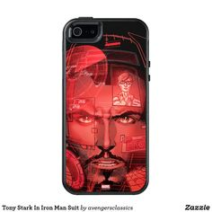 Tony Stark In Iron Man Suit OtterBox iPhone 5/5s/SE Case. Cool Marvel merchandise to personalize. #marvel #avengers #birthday #birthdayparty #birthdaycard #personalize #kids #shopping