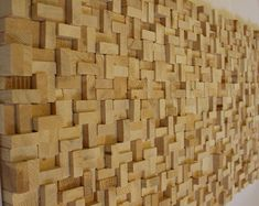 Reciclado madera de la pared arte madera por ArtGlamourSligo