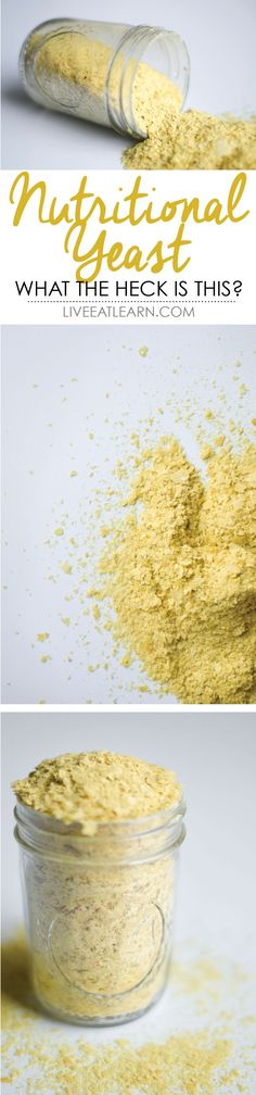 Have you heard of nutritional yeast? Well it's time you learn a bit about it! A vegan's secret ingredient, this stuff adds savory, cheesy, deliciousness to any recipe in any diet! And the best part? It's a completely natural high source of protein!