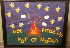 Get Fired Up for OT Month Bulletin Board