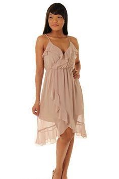 Cute Ruffled Sleeveless Chiffon Party Dress