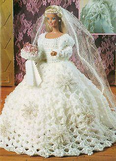 """""""BARBIE WEDDING DRESS"""" CROCHET PATTERN"""