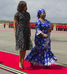 """Michelle Obama wears a Jason Wu dress for the African First Ladies Summit: """"Investing in Women: Strengthening Africa"""""""