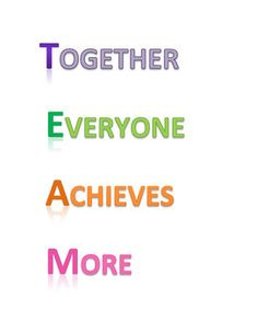 free TEAM Poster - Together Everyone Achieves More