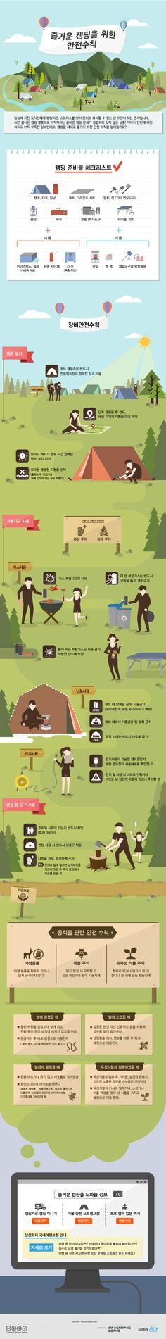 즐거운 캠핑을 위한 안전 수칙 (인포그래픽웍스)