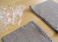 truco terminación costuras con elástico transparente