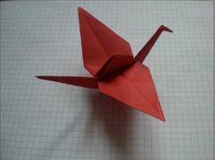 Origami crane tutorial