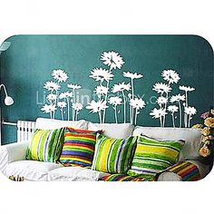 Wall Sticker - Gerbera (0565 - gz031) - AUD $ 17.64