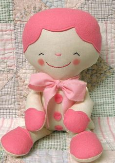 Cute rag doll, looks easy to make, she does need some ponytails and clothes though
