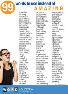 """99 words to use instead of """"amazing. Essay Writing Skills, English Writing Skills, Book Writing Tips, Writing Words, Teaching Writing, English Lessons, Learn English Grammar, English Language Learning, Learn English Words"""