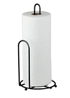 Home Basics Black Paper Towel Holder Home Basics http://www.amazon.com/dp/B00UKCZN14/ref=cm_sw_r_pi_dp_OW9qwb1H5A69H