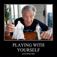 Ian McKellen you're awesome. I just wish there was a Magneto toy!
